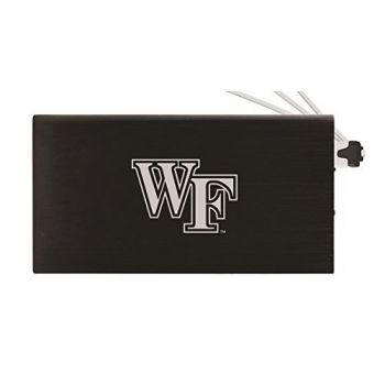 8000 mAh Portable Cell Phone Charger-Wake Forest University -Black