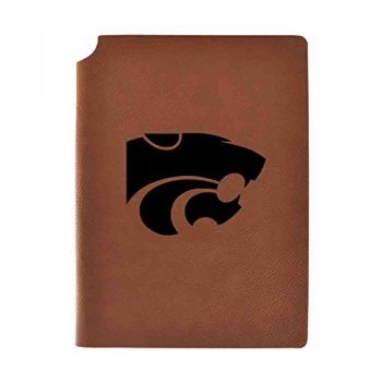 Kansas State University Velour Journal with Pen Holder|Carbon Etched|Officially Licensed Collegiate Journal|