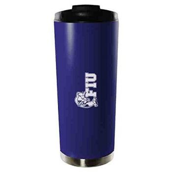 Florida International University-16oz. Stainless Steel Vacuum Insulated Travel Mug Tumbler-Blue