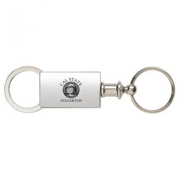 Fullerton College - Anodized Aluminum Valet Key Tag - Silver