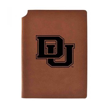 University of Denver Velour Journal with Pen Holder|Carbon Etched|Officially Licensed Collegiate Journal|