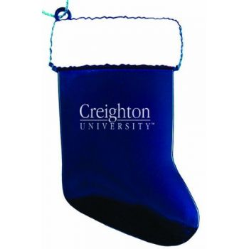 Creighton University - Christmas Holiday Stocking Ornament - Blue