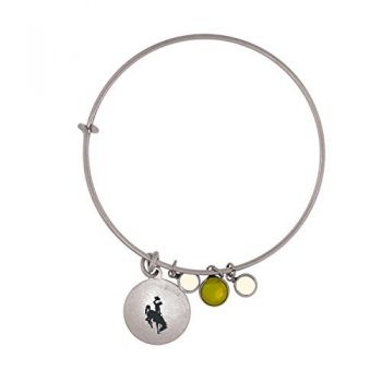 University of Wyoming -Frankie Tyler Charmed Bracelet