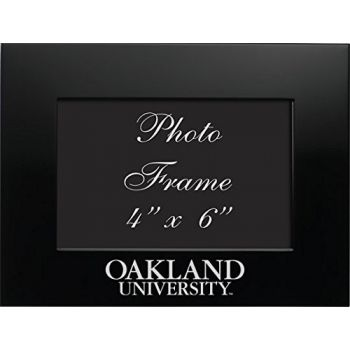 Oakland University - 4x6 Brushed Metal Picture Frame - Black