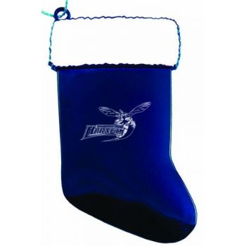 Delaware State University - Christmas Holiday Stocking Ornament - Blue