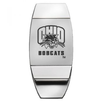 Ohio University - Two-Toned Money Clip - Silver