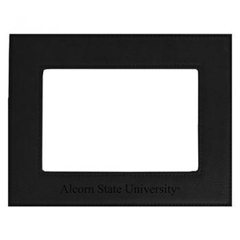 Alcorn State University-Velour Picture Frame 4x6-Black
