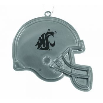 Washington State University - Christmas Holiday Football Helmet Ornament - Silver
