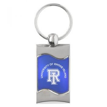 University of Rhode Island - Wave Key Tag - Blue