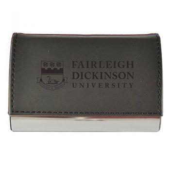Velour Business Cardholder-Fairleigh Dickinson University-Black