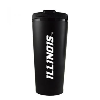 University of Illinois -16 oz. Travel Mug Tumbler-Black