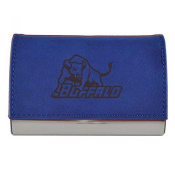 Velour Business Cardholder-University at Buffalo-The State University of New York-Blue