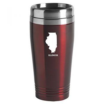 16 oz Stainless Steel Insulated Tumbler - Illinois State Outline - Illinois State Outline
