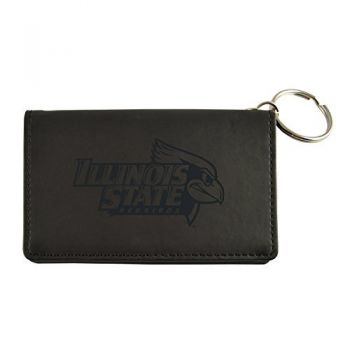 Velour ID Holder-Illinois State University-Black