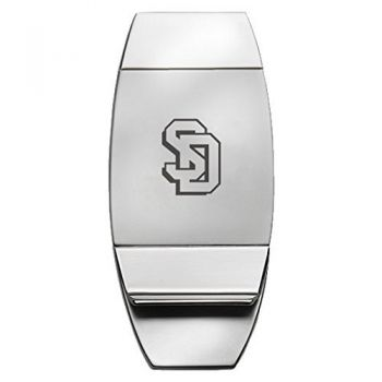 University of South Dakota - Two-Toned Money Clip - Silver
