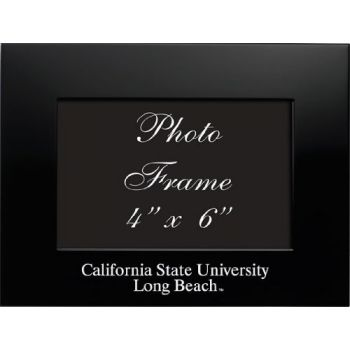 California State University, Long Beach - 4x6 Brushed Metal Picture Frame - Black