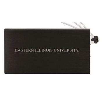 8000 mAh Portable Cell Phone Charger-Eastern Illinois University -Black