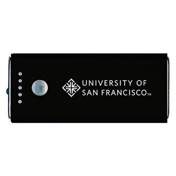 University of San Francisco -Portable Cell Phone 5200 mAh Power Bank Charger -Black