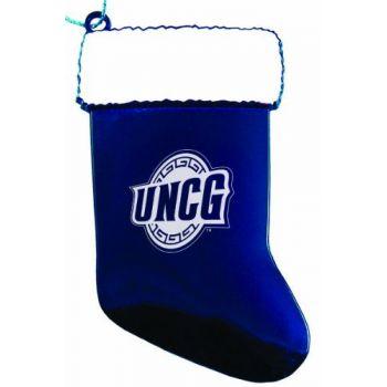 University of North Carolina at Greensboro - Chirstmas Holiday Stocking Ornament - Blue