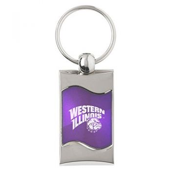 Western Illinois University - Wave Key Tag - Purple