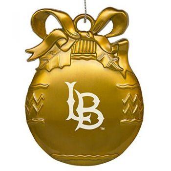 University of California, Long Beach - Pewter Christmas Tree Ornament - Gold