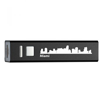 Quick Charge Portable Power Bank 2600 mAh - Miami City Skyline