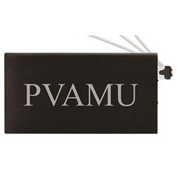 8000 mAh Portable Cell Phone Charger-Prairie View A&M University -Black