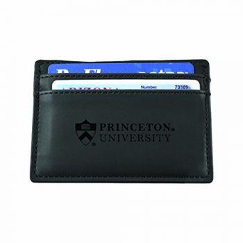 Princeton University-European Money Clip Wallet-Black