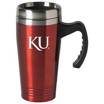 The University of Kansas-16 oz. Stainless Steel Mug-Red