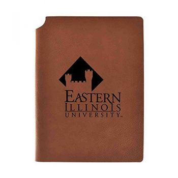Eastern Illinois University Velour Journal with Pen Holder|Carbon Etched|Officially Licensed Collegiate Journal|