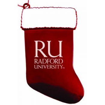 Radford University - Christmas Holiday Stocking Ornament - Red