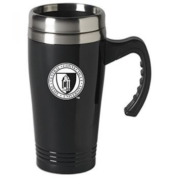 Central Connecticut University-16 oz. Stainless Steel Mug-Black