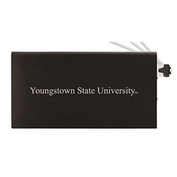 8000 mAh Portable Cell Phone Charger-Youngstown State University -Black