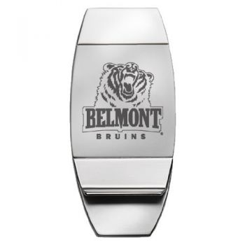 Belmont University - Two-Toned Money Clip - Silver
