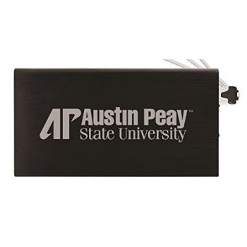 8000 mAh Portable Cell Phone Charger-Austin Peay State University -Black