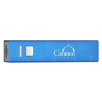 Canisius College - Portable Cell Phone 2600 mAh Power Bank Charger - Blue