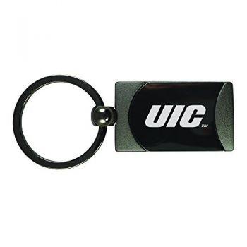 University of Illinois at Chicago-Two-Toned Gun Metal Key Tag-Gunmetal