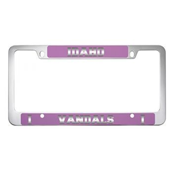 University of Idaho -Metal License Plate Frame-Pink