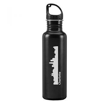 24 oz Reusable Water Bottle - Charlotte City Skyline