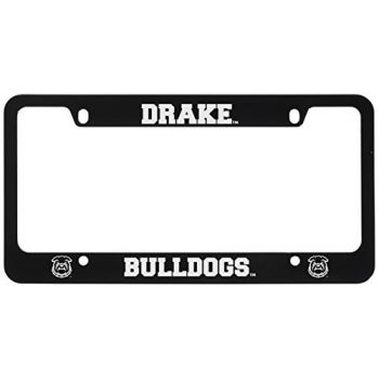 Drake University-Metal License Plate Frame-Black