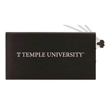 8000 mAh Portable Cell Phone Charger-Temple University -Black
