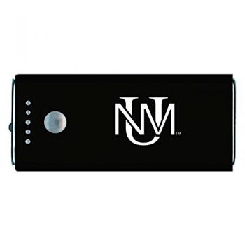 The University of New Mexico -Portable Cell Phone 5200 mAh Power Bank Charger -Black