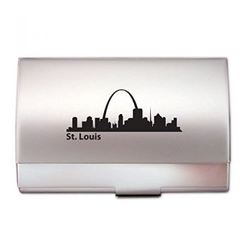 Business Card Holder Case - St Louis City Skyline