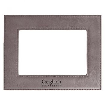 Creighton University-Velour Picture Frame 4x6-Grey