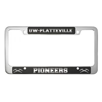University of Wisconsin-Platteville-Metal License Plate Frame-Black