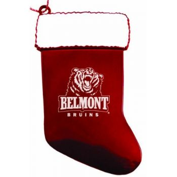 Belmont University - Christmas Holiday Stocking Ornament - Red