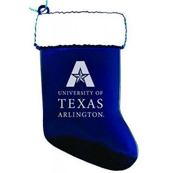 University of Texas at Arlington - Christmas Holiday Stocking Ornament - Blue