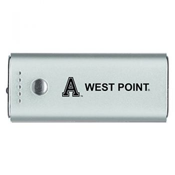 United States Military Academy -Portable Cell Phone 5200 mAh Power Bank Charger -Silver