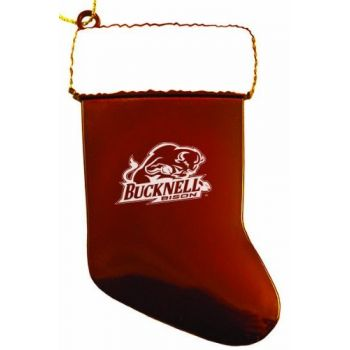 Bucknell University - Christmas Holiday Stocking Ornament - Orange