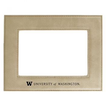 University of Washington -Velour Picture Frame 4x6-Tan